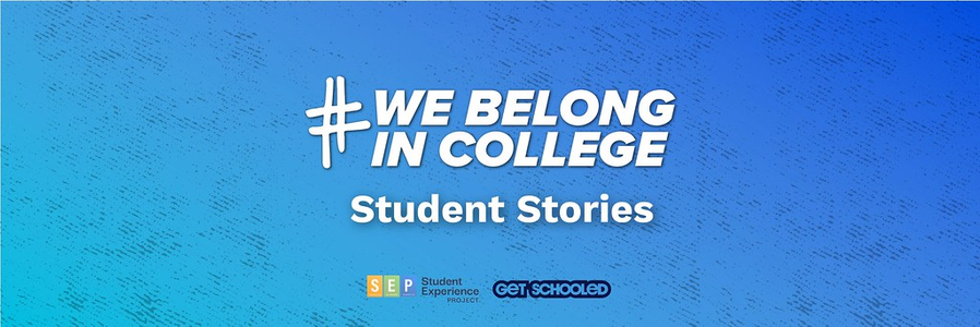 Watch Example #WeBelongInCollege Stories